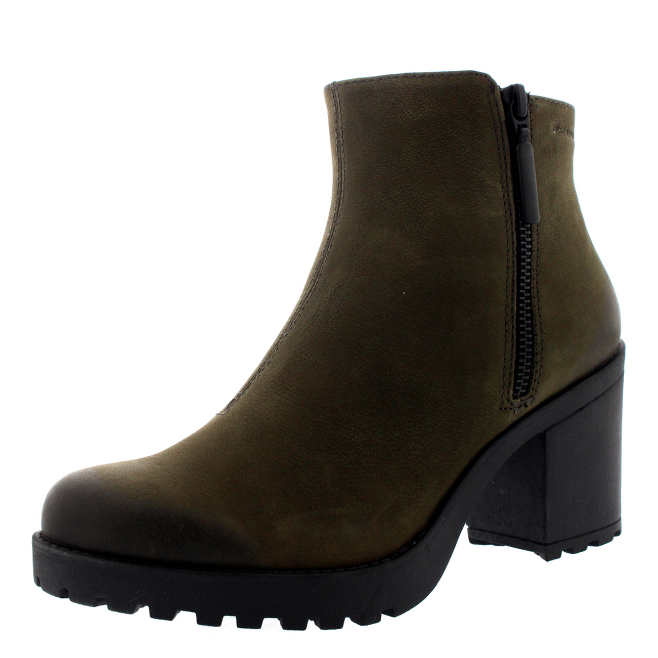 Womens Vagabond Grace Suede Festival Zip Casual Block Heel Ankle Boots UK 3.5-8