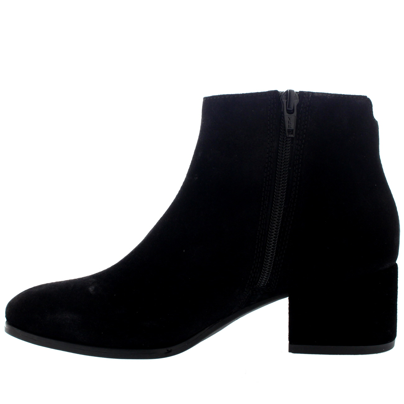 womens vagabond daisy suede black casual block heel chelsea ankle boots uk 3 5 8 ebay. Black Bedroom Furniture Sets. Home Design Ideas