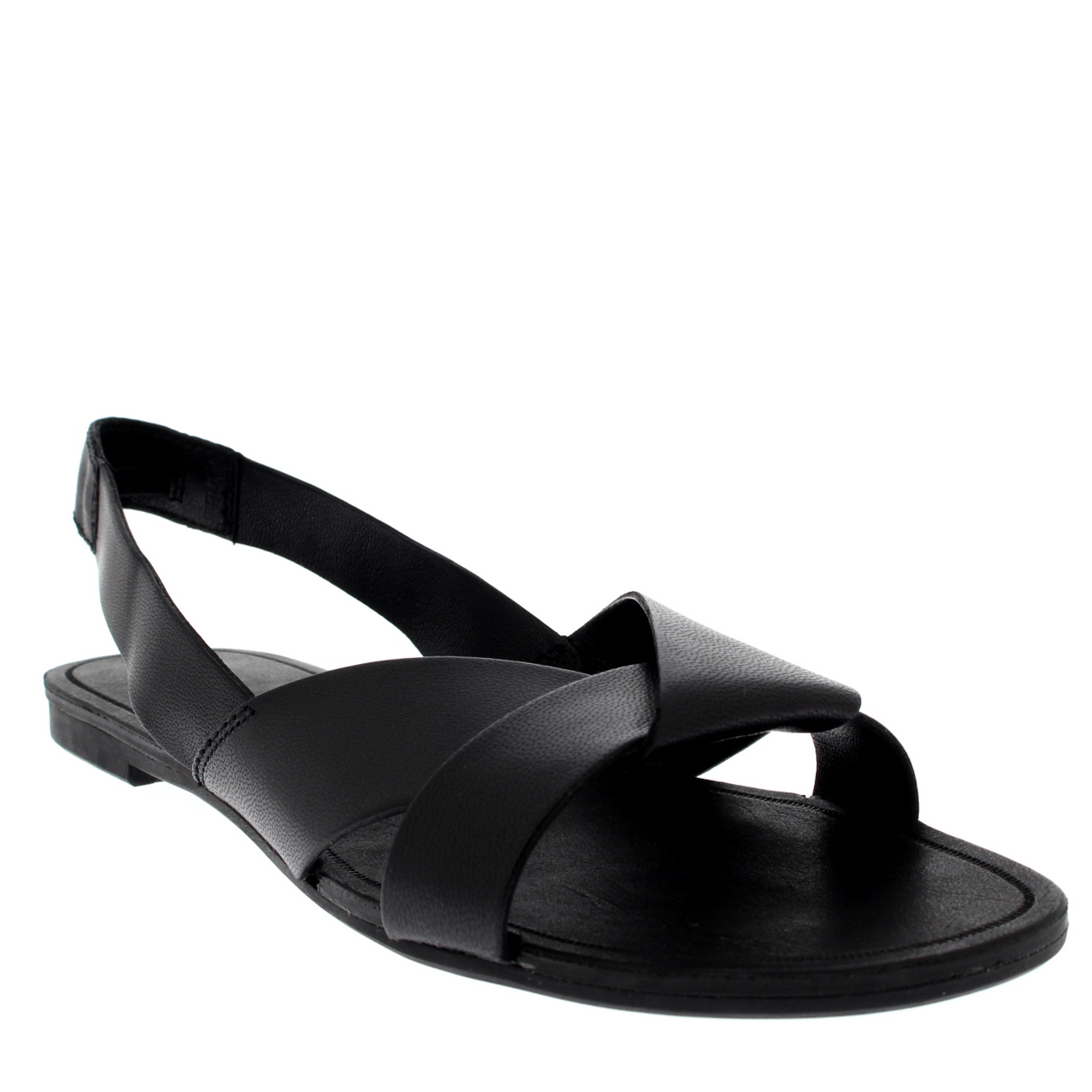 Black sandals uk - Womens Vagabond Tia Slingback Leather Black Open Toe Fashion Sandals Uk 3 9