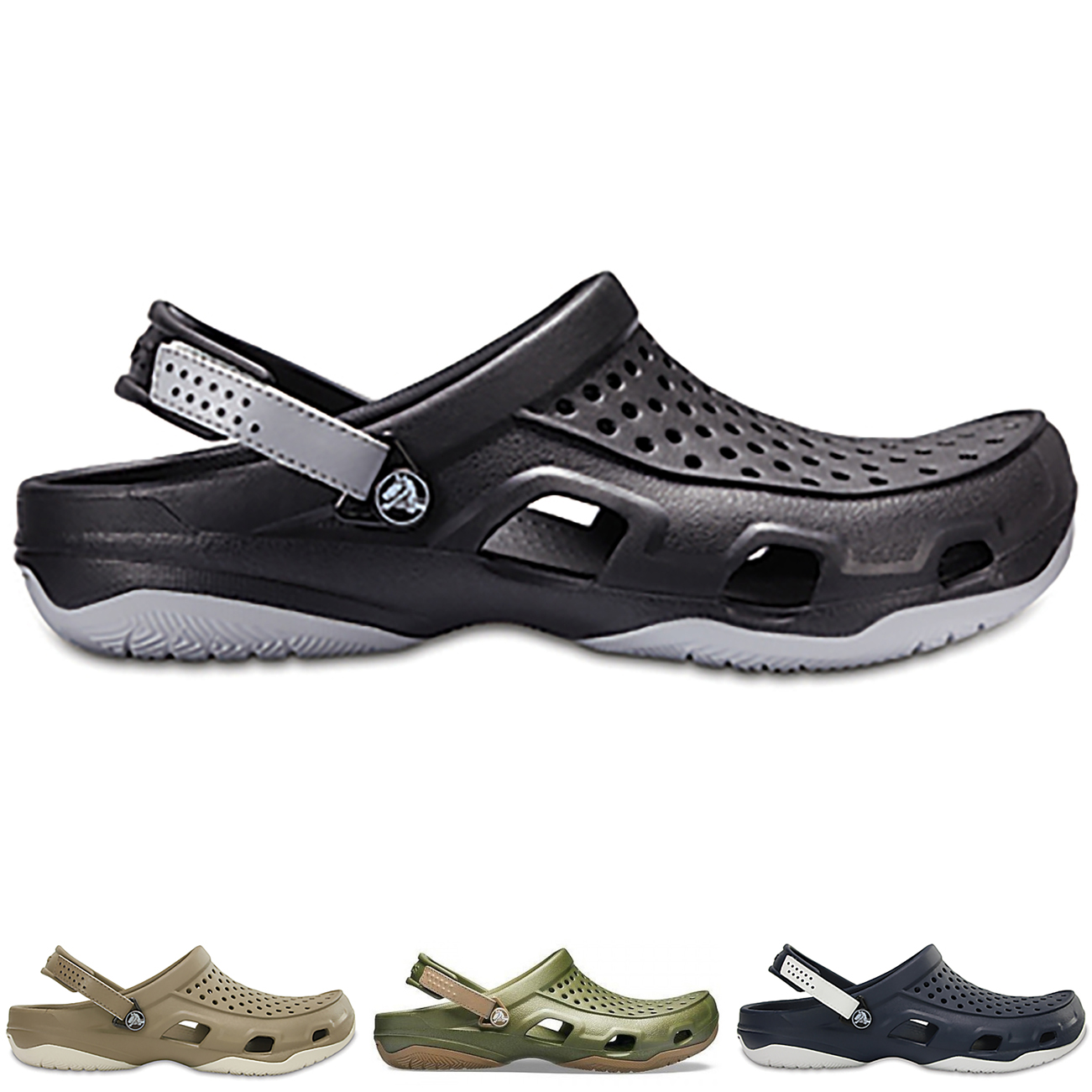 4d8c60469cb09 Image is loading Mens-Crocs-Swiftwater-Deck-Clog-Outdoor-Cut-Out-