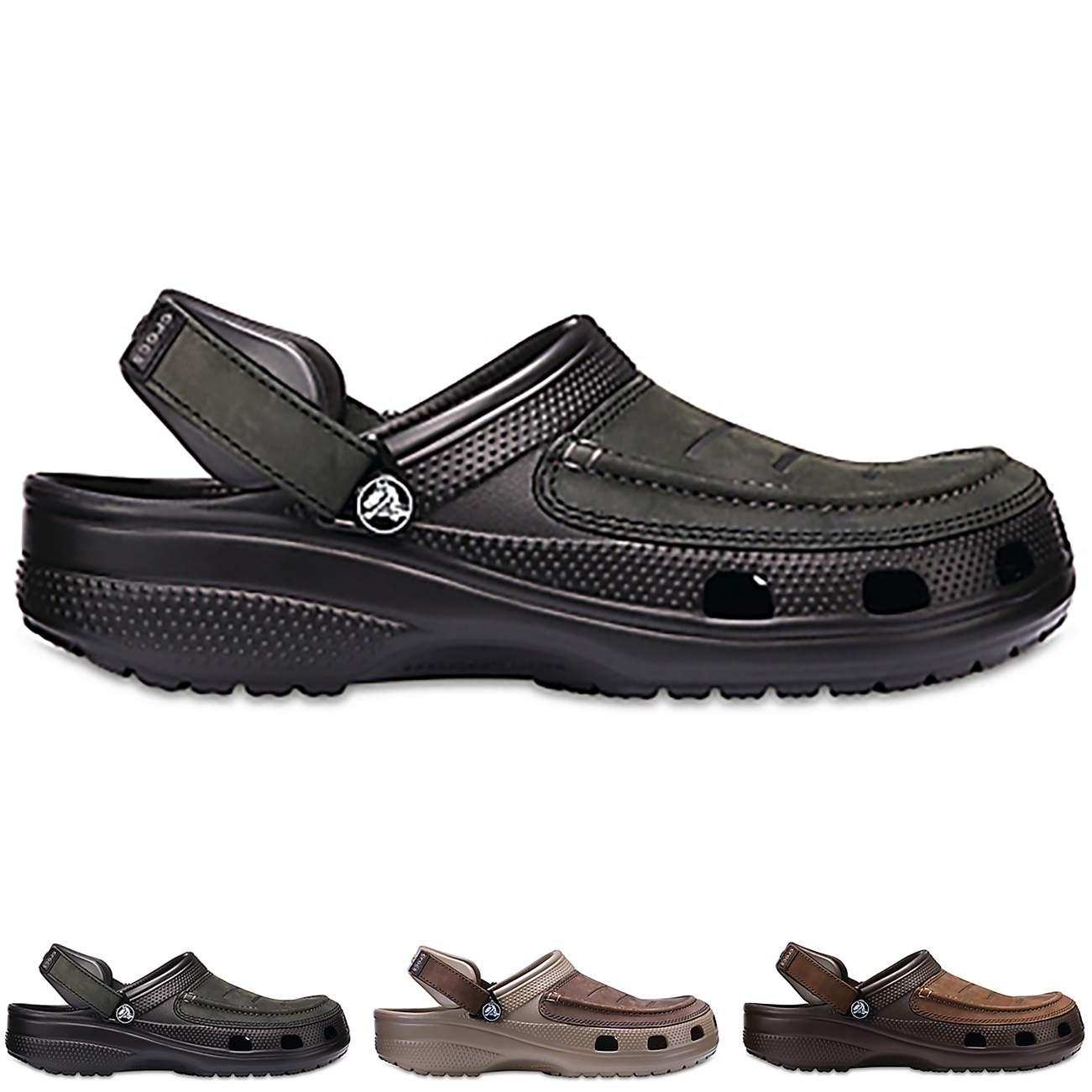 26f5afd37dc8 Image is loading Mens-Crocs-Yukon-Vista-Clog-Holiday-Leather-Rubber-