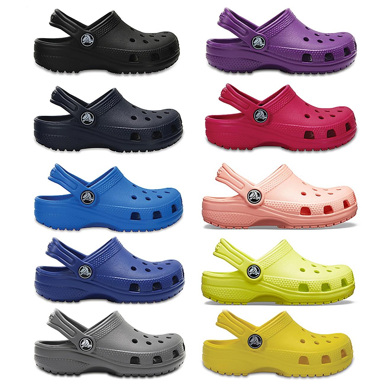 Crocs /'Classic/' Kid/'s Unisex Navy Slip On Rubber Summer Clogs