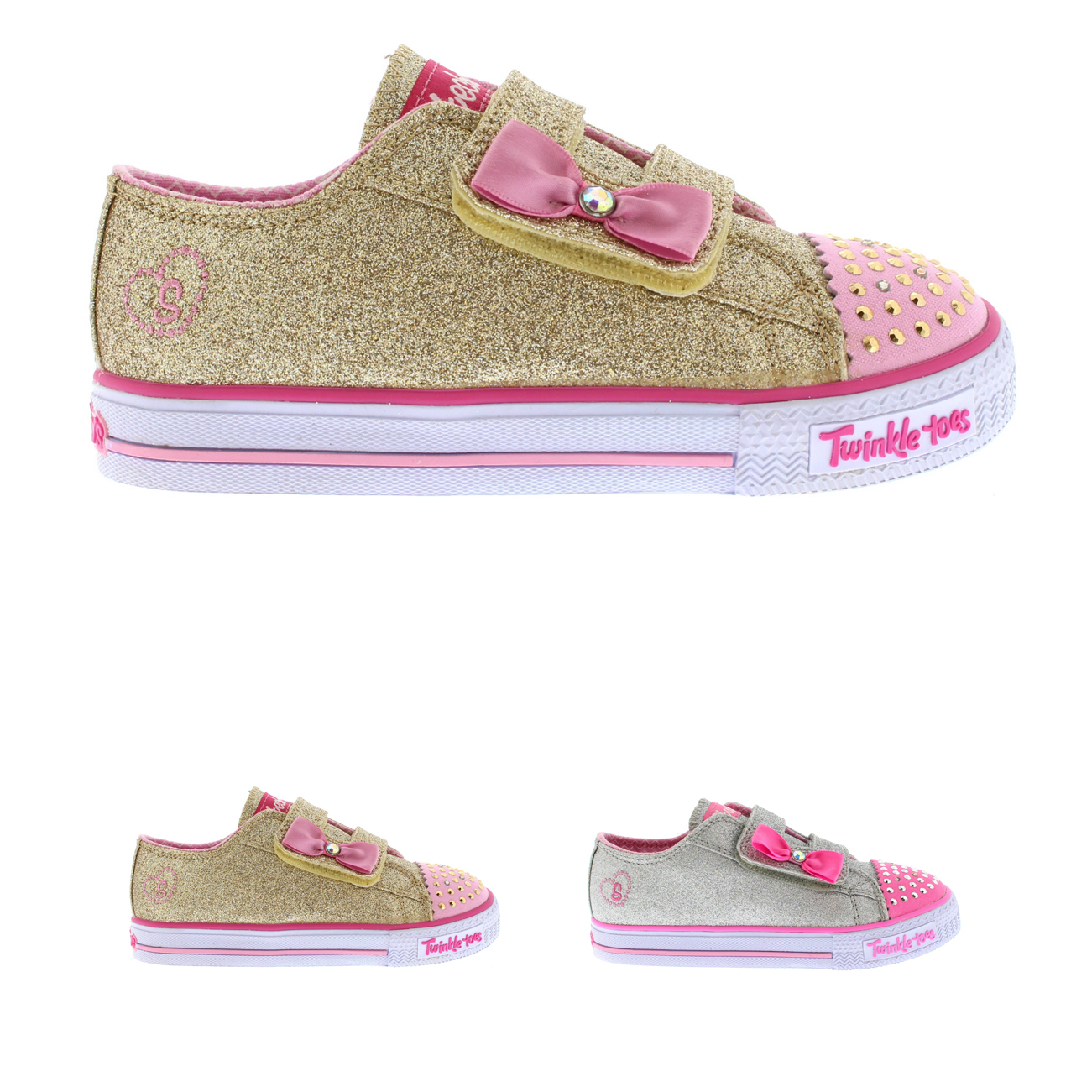 Infant Girls Skechers Twinkle Toes Shuffles Glitzy Games