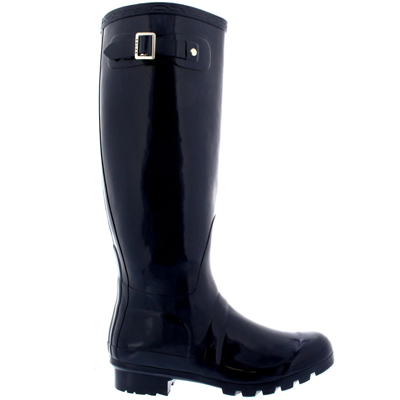 Ladies Original Tall Gloss Waterproof Festival All Snow Rain Wellie botas All Festival Talla 91b808
