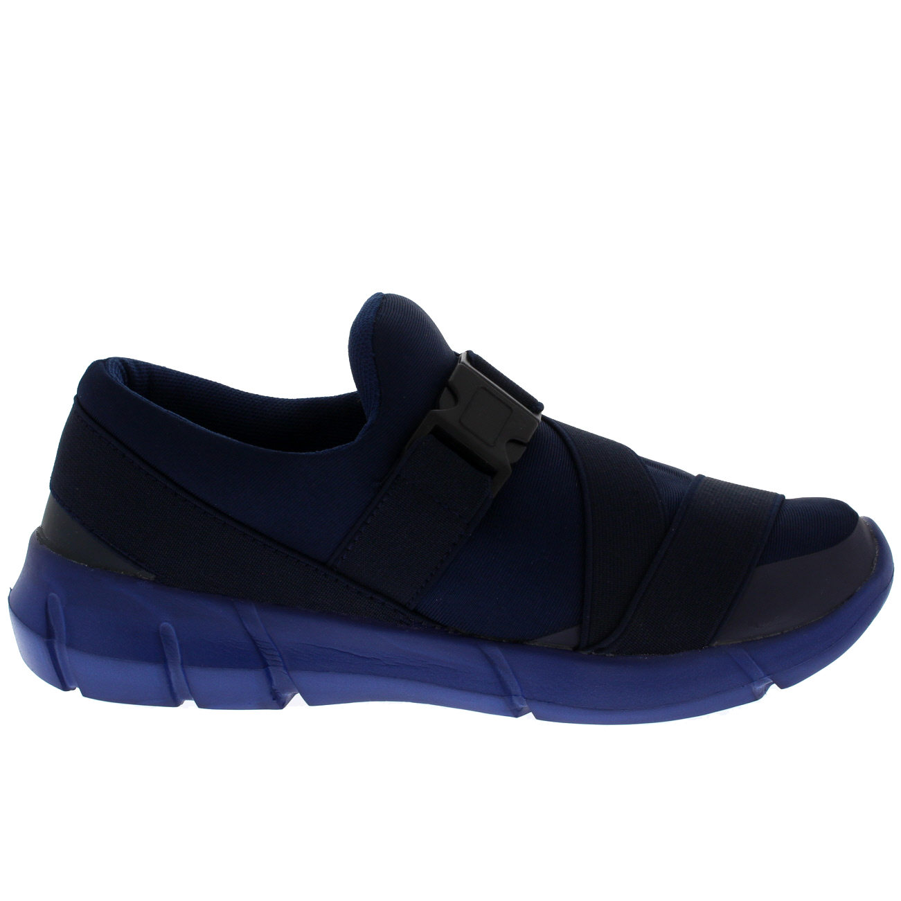 Hebilla para mujer Slip On Caminar Ligero Acolchado Entrenadores Zapatos Deportivos