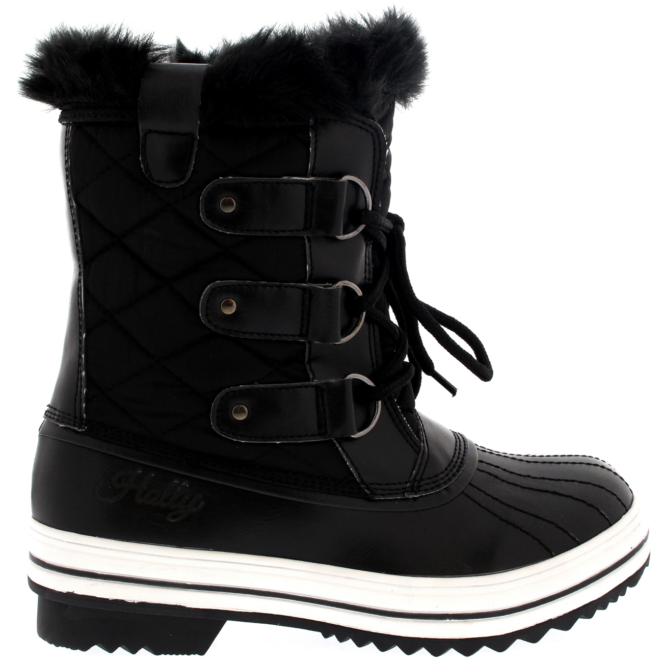 1236e9e84 Details about Ladies Snow Boot Nylon Short Winter Snow Fur Rain Warm  Waterproof Boot All Sizes