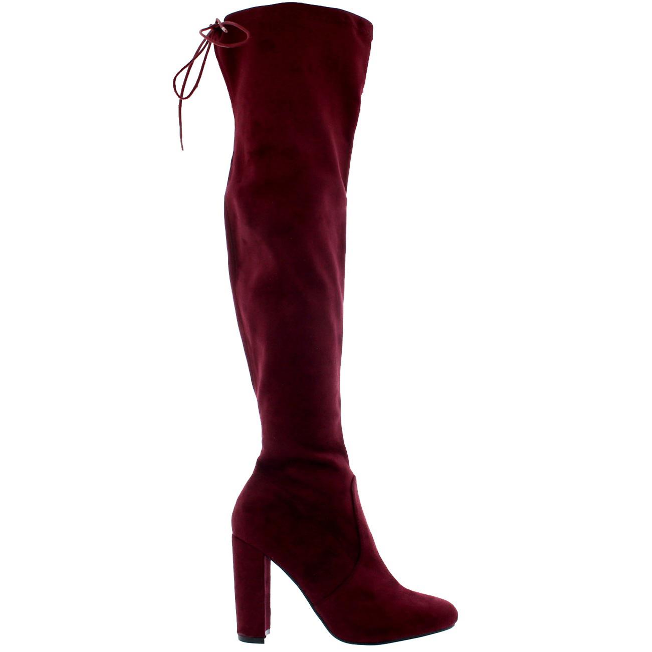 heeled thigh high winter snow warm wide