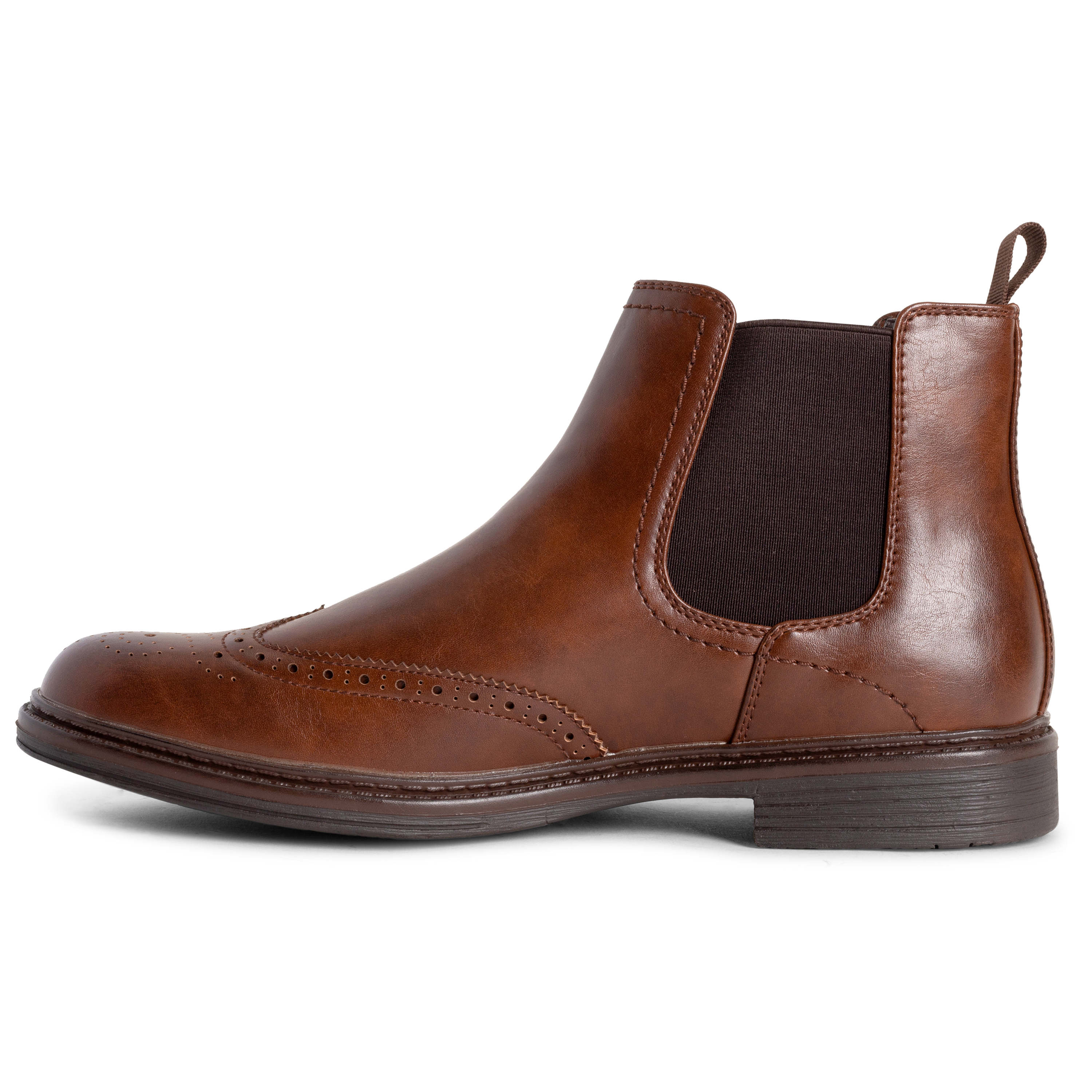 Mens Queensberry London Chelsea Dealer Chelsea Cleated Brogue Ankle Boot UK 6-14