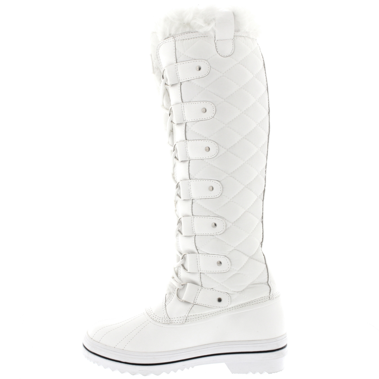 Ladies Quilted Fur Lined Duck Muck Winter Rain Snow Knee High ... : quilted winter boots - Adamdwight.com