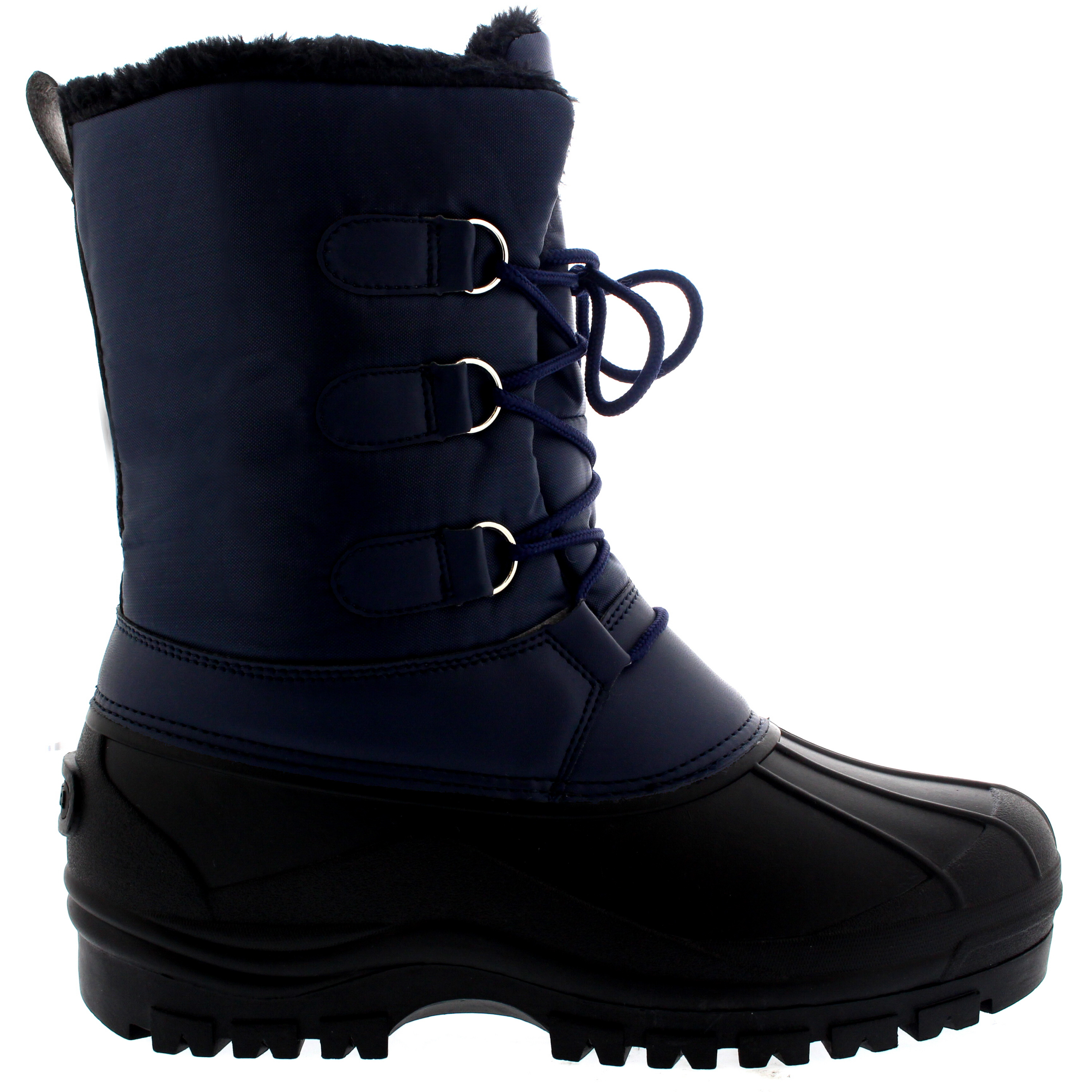 mens short nylon muck lace up snow rain casual duck warm winter boots all sizes ebay. Black Bedroom Furniture Sets. Home Design Ideas