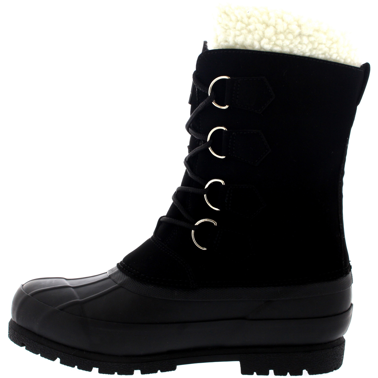 Mens Winter Wool Lined 100% Rubber Duck Sole Warm Casual