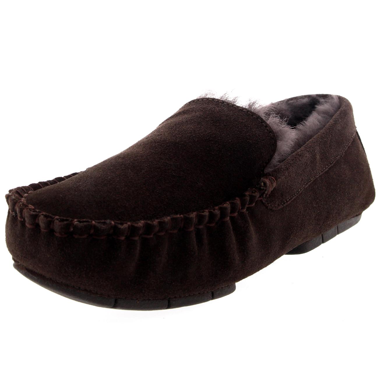 Sheepskin Lined Shoes Mens