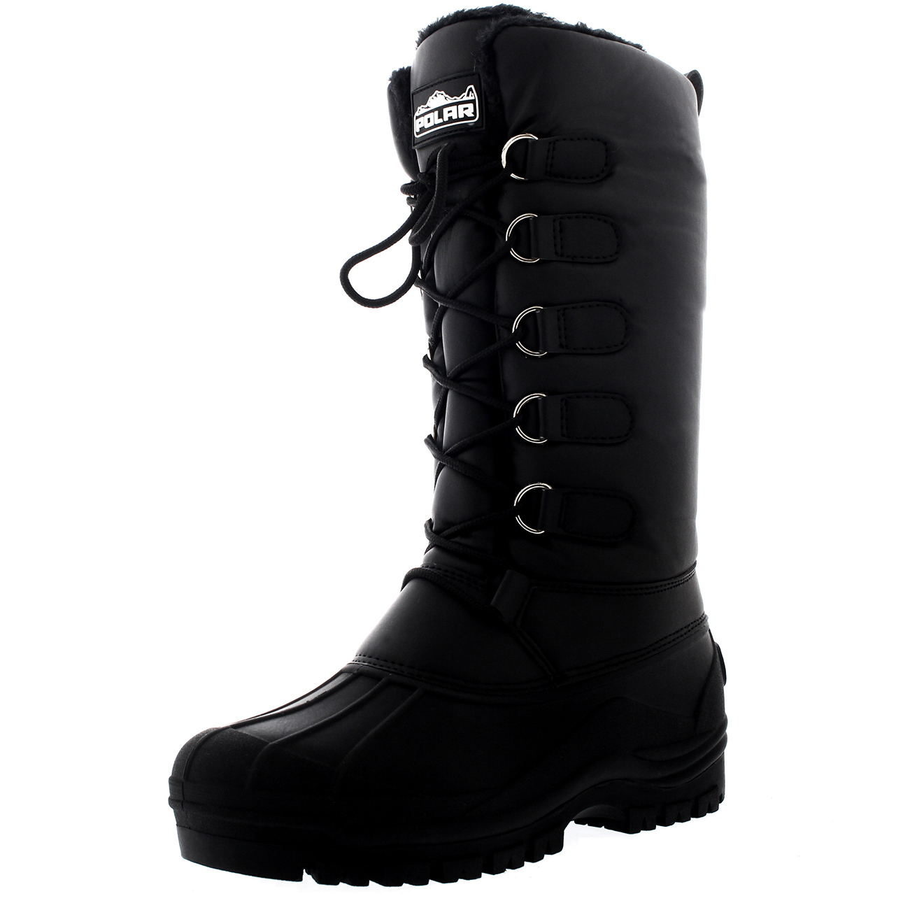 Ladies-Quilted-Duck-Hiker-Walking-Waterproof-Winter-Yard-Calf-Boots-All-Sizes