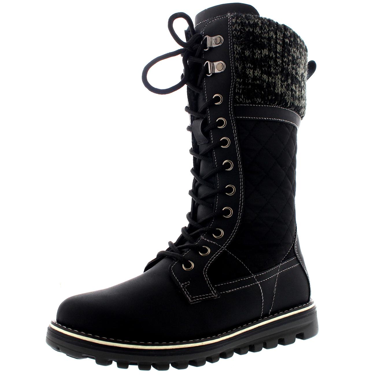 Ladies-Waterproof-Walking-Warm-Hiking-Snow-Rain-Winter-Mid-Calf-Boot-All-Sizes