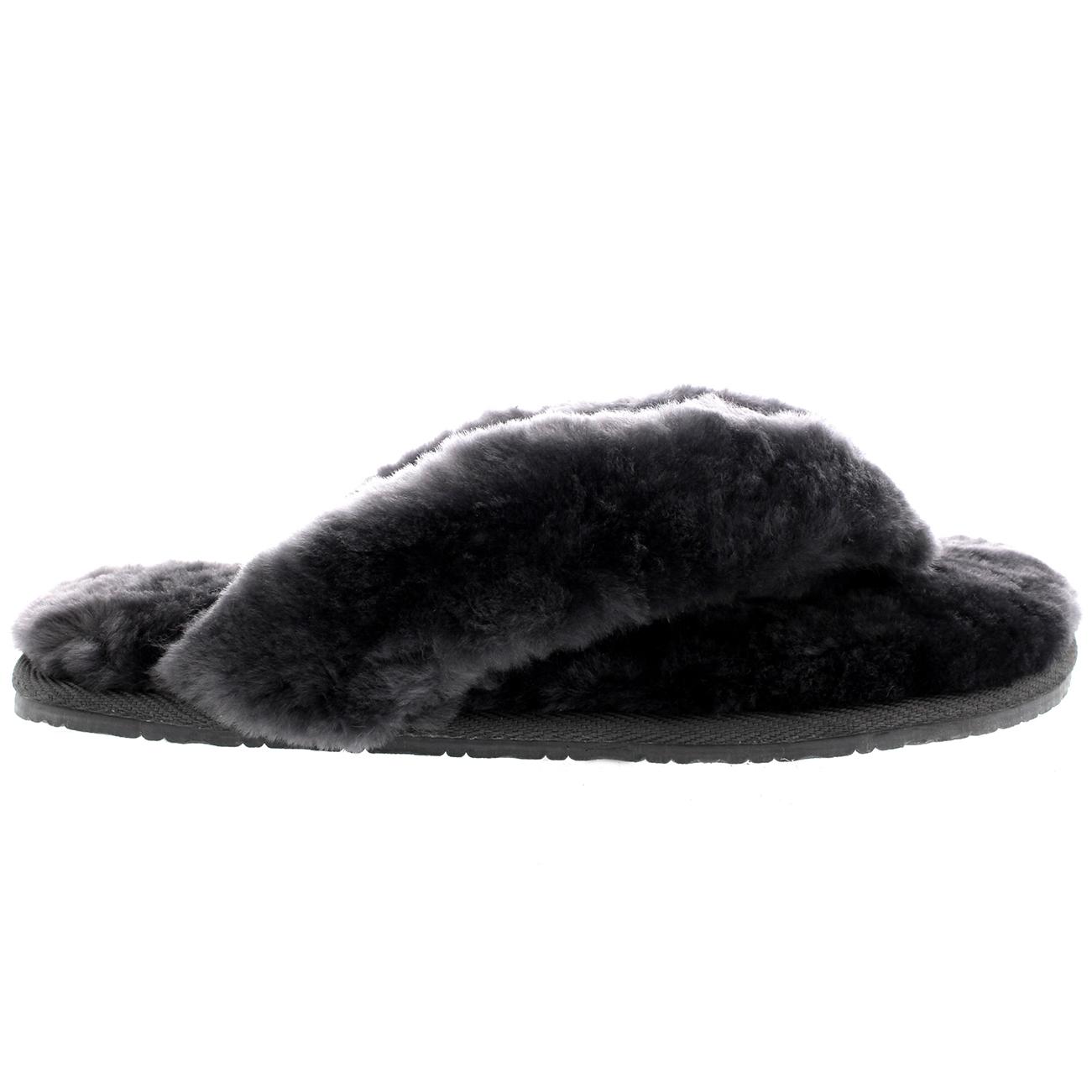 d1637951cc2 Ladies Toe Post Sheepskin Australian Flip Flops Warm Winter Slippers ...