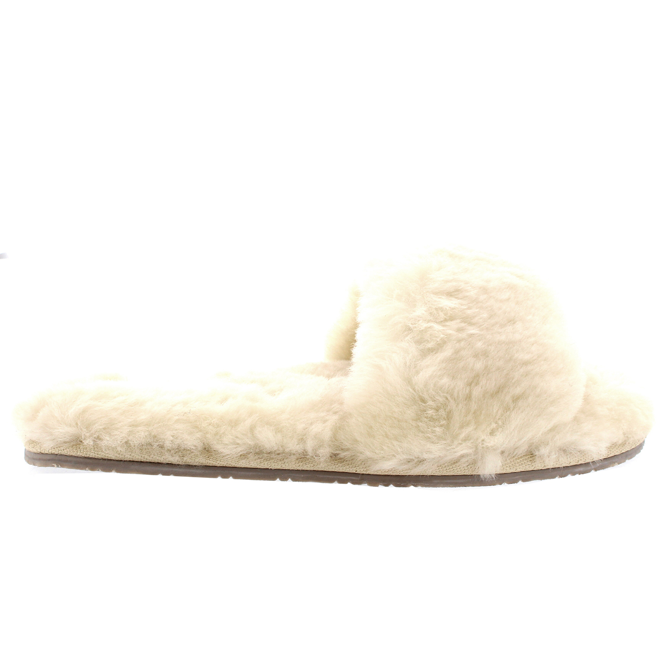 Ladies Real Australian Sheepskin Sandal Winter Open Toe Fur Slippers All Sizes