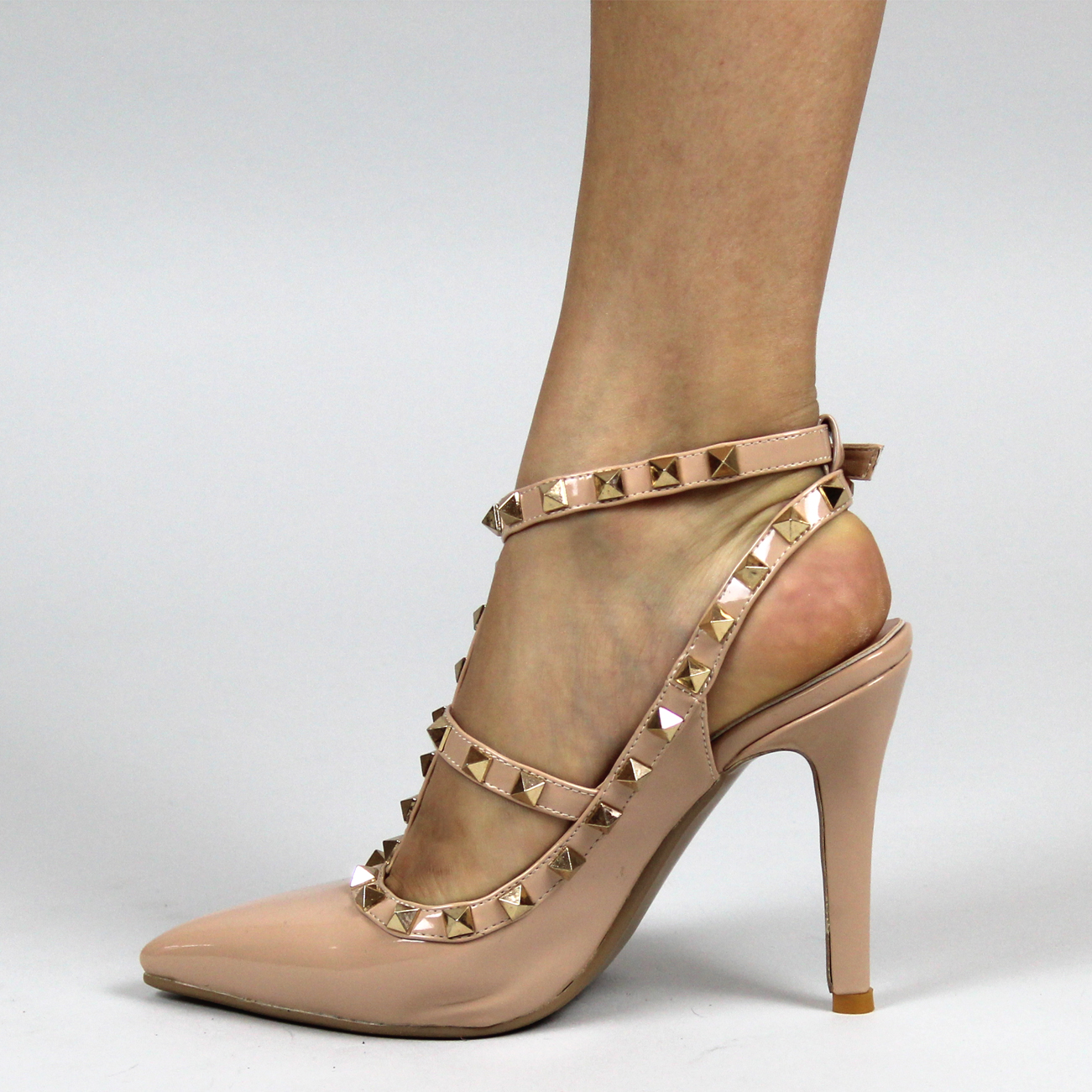 Studded Mid Heel Shoes