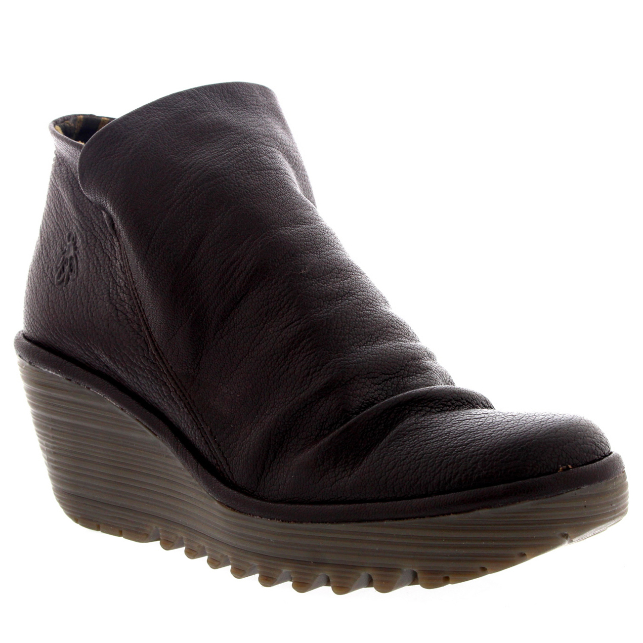 Ladies Fly London Yip Mousse Wedges Casual Winter Pull All On Ankle bota All Pull Talla e4c7f2
