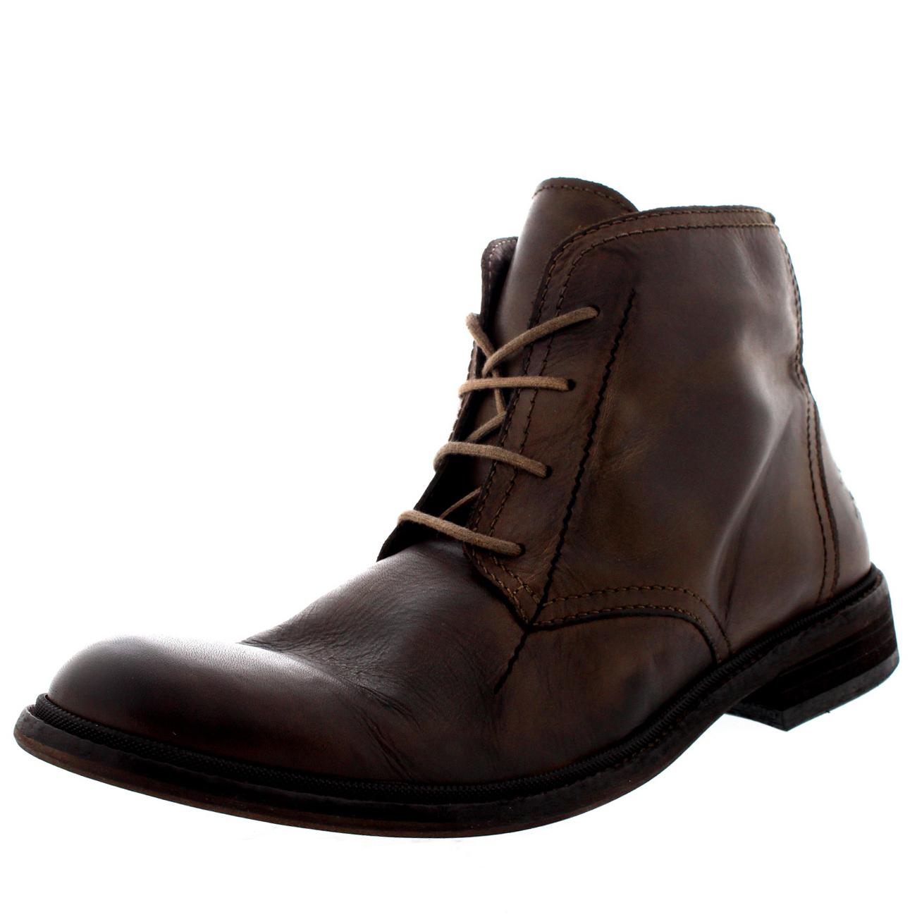 Mens Fly London Hobi Formal Work Office Casual Leder Ankle Stiefel All Gres