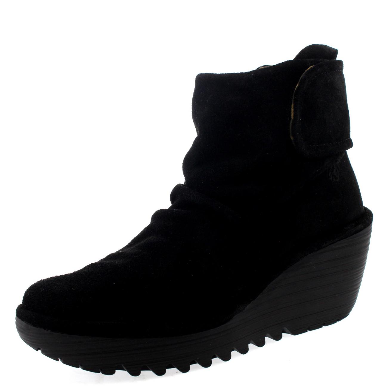 Senoras-Fly-London-yegi-Nieve-Casual-Cuna-Zapatos-De-Invierno-Botas-Taco-Bajo-Todas-Las-Tallas