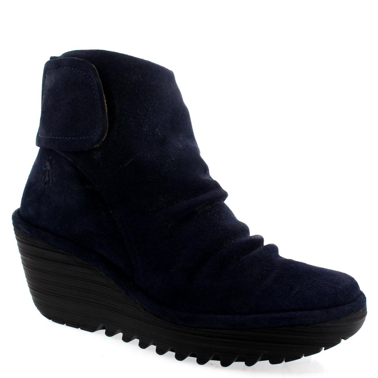 Ladies Fly London Yegi Snow Casual Wedge Shoes Winter Low