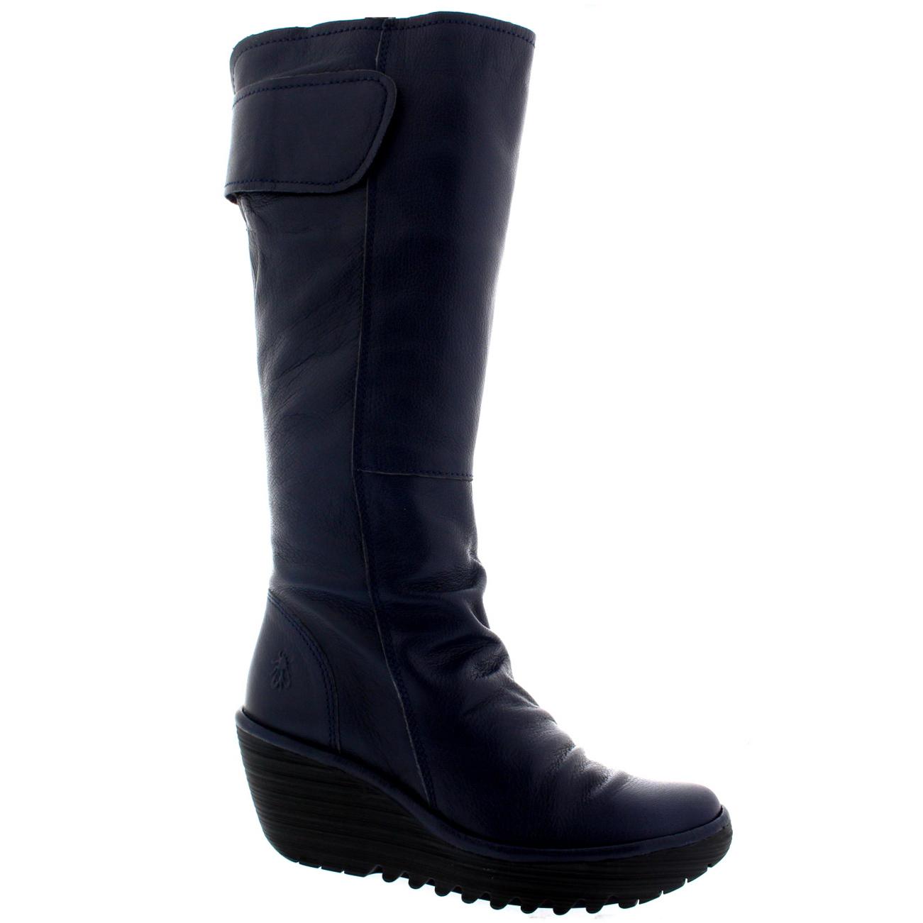Señoras Fly London Yulo Cuero Nieve Invierno Tacón Informal botas a la Rodilla Tacón Invierno Medio Todas Las Tallas 07de1e