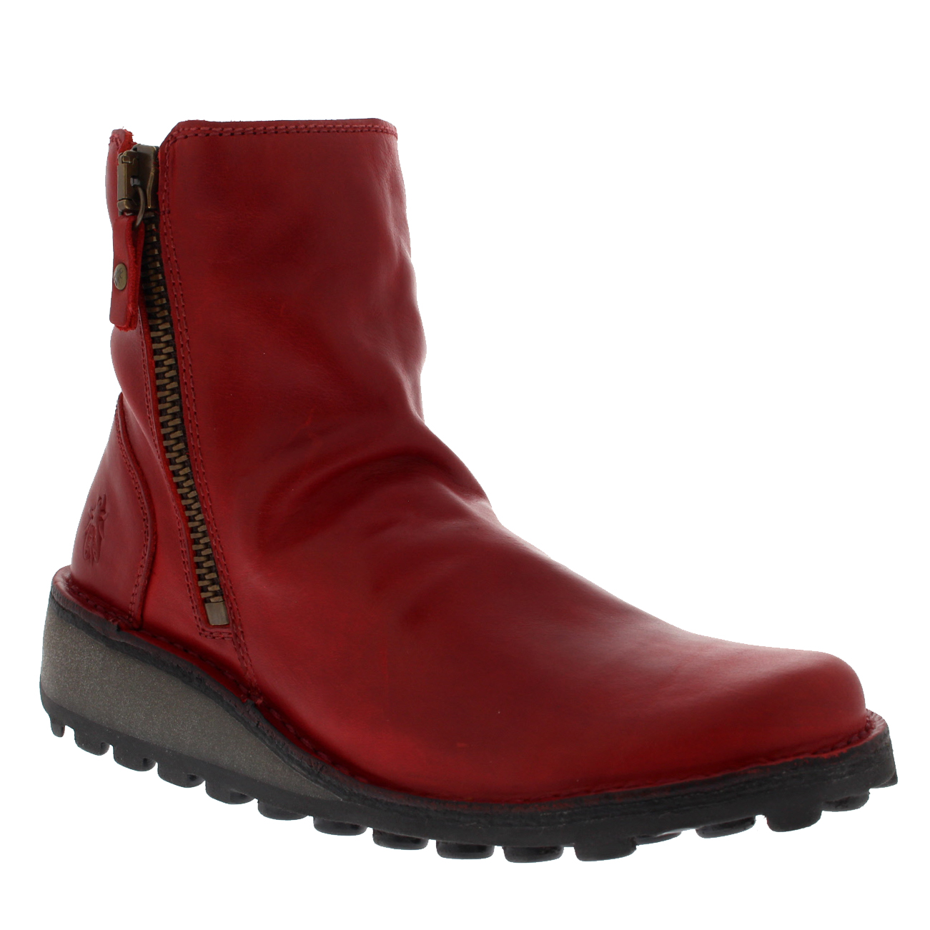 Ladies Fly London London London Mong Rug Slouch Wedge Heel Fashion Biker Ankle Boot All Sizes 8f5c49