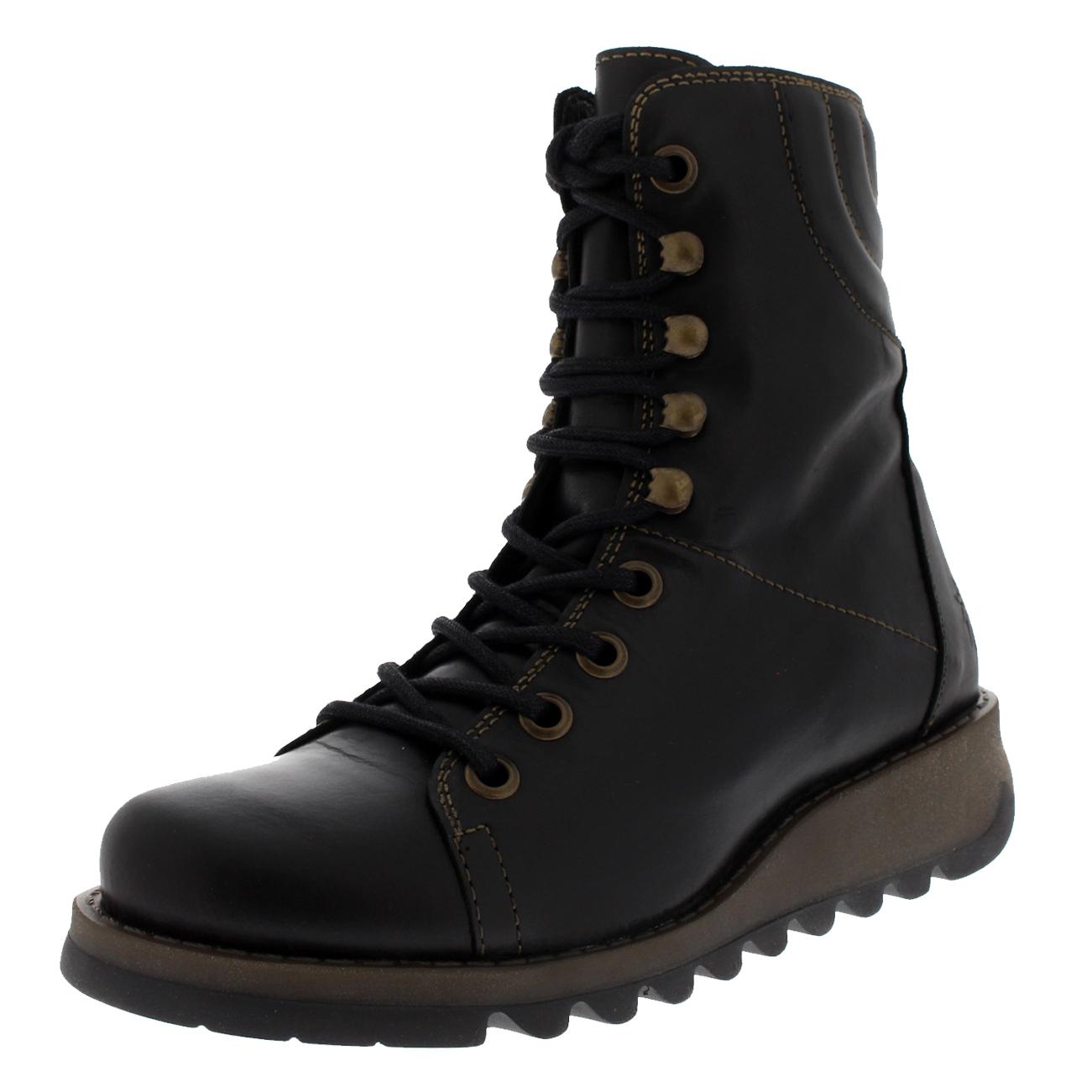 Ladies Fly London Same Rug Biker Low Heel Winter Fashion Bnkle Boots Bll Sizes