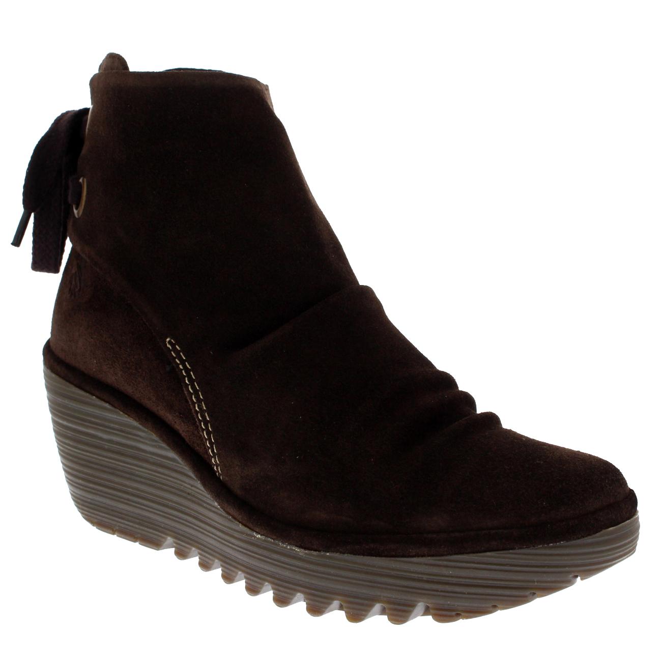 Fly London Yama Slouch Lace Up Biker Fashion Ankle Boot Size 42 8 uk women lady