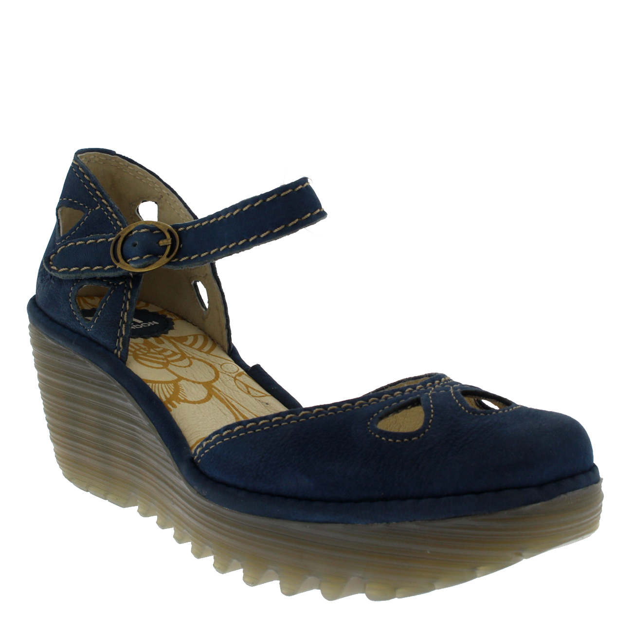 Ladies Fly Fly Fly London Yuna Strappy Closed Toe Strappy Mid Wedges Sandals All Sizes fd8d9f