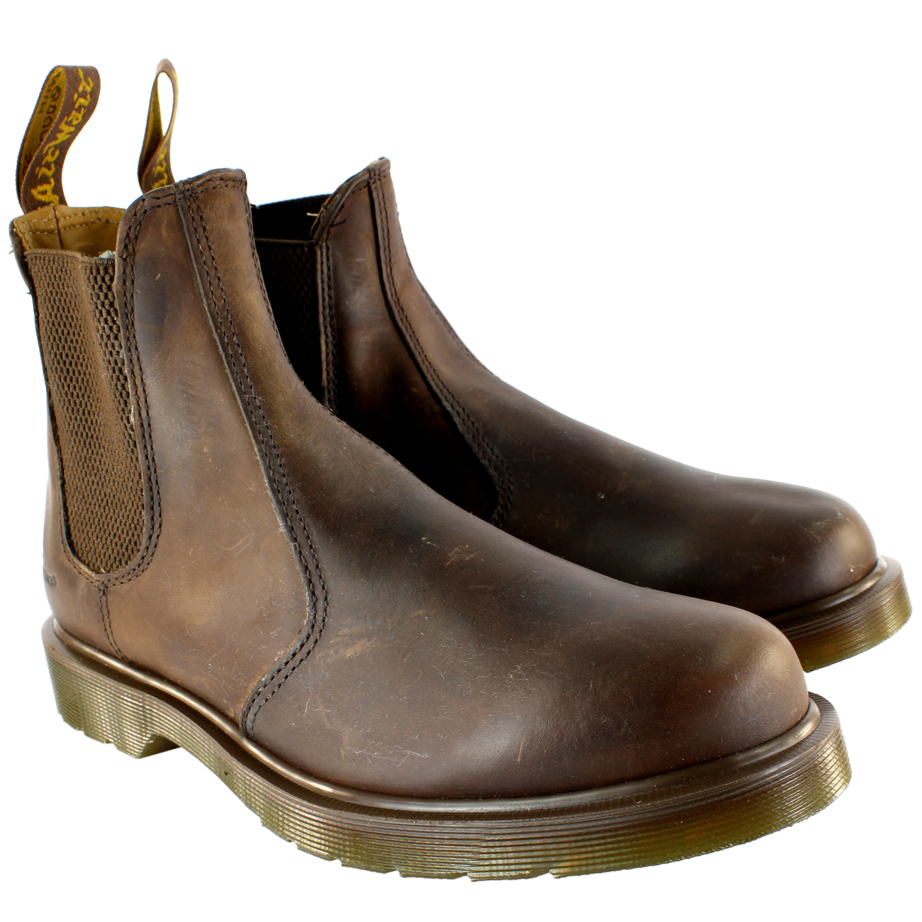 Details about Mens Dr Martens 2976 Classic Leather Chelsea Style Ankle High  Boots All Sizes