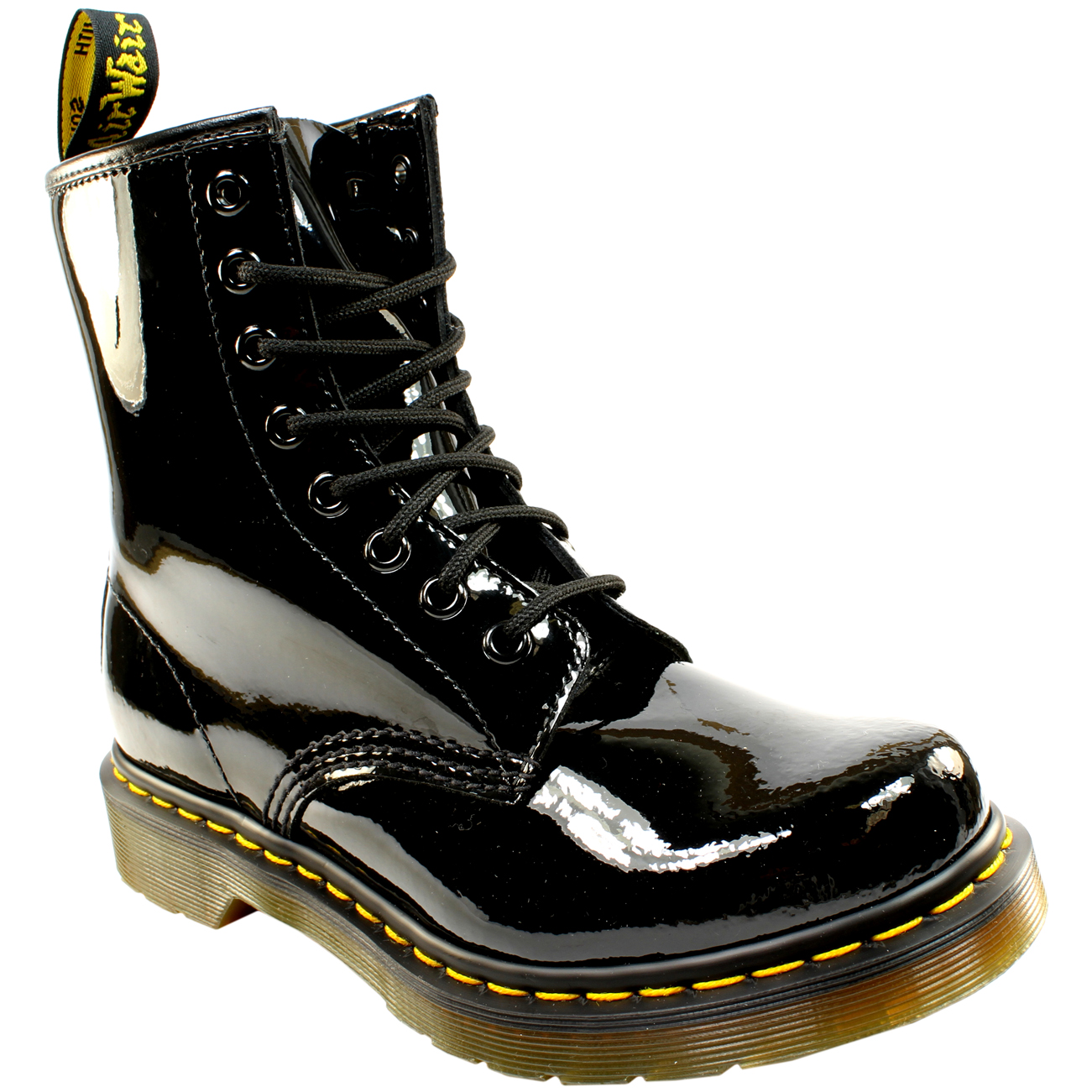 351d5c39a Ladies Dr Martens 1460 W 8 Eyelet Patent Lamper Military Lace Up ...