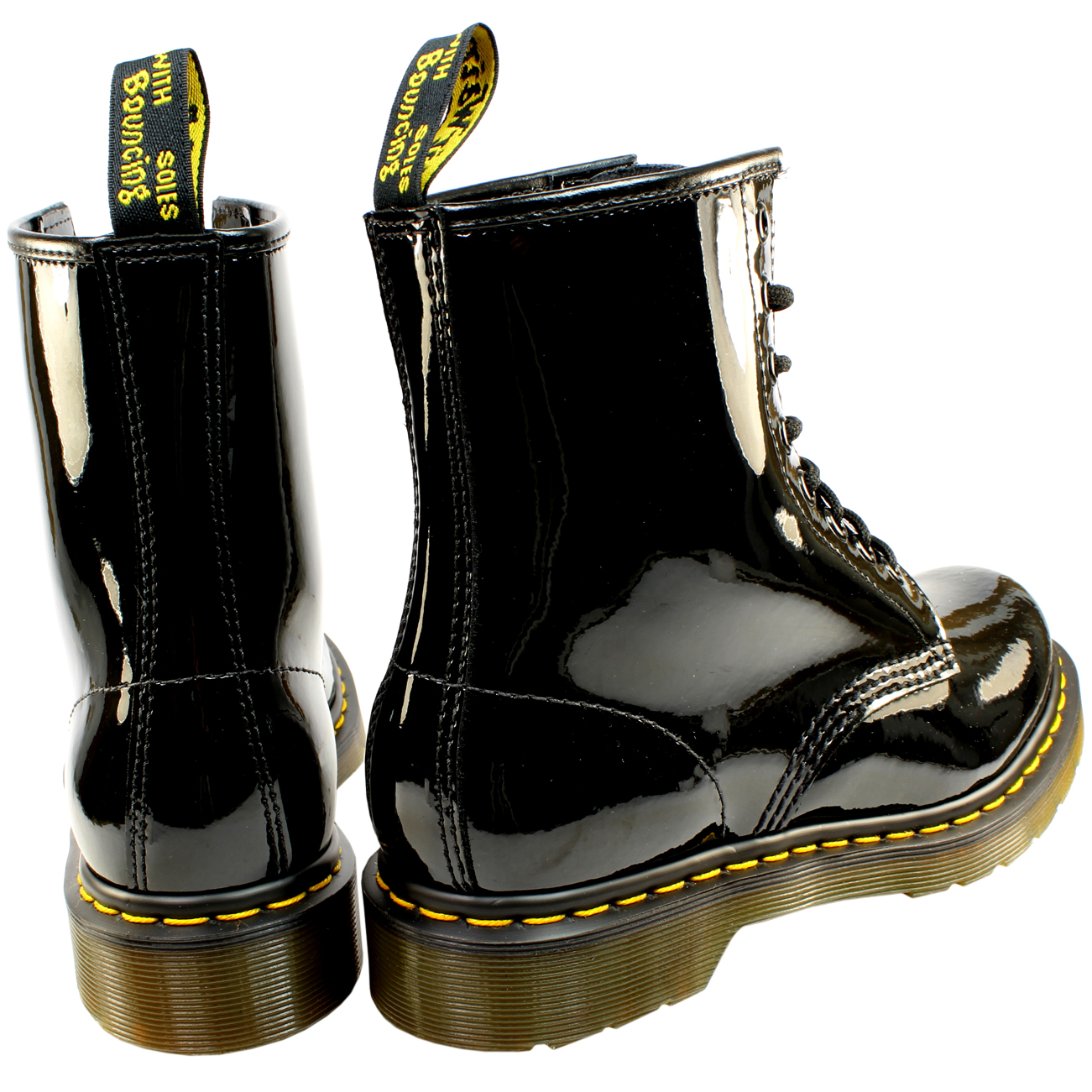 Ladies Dr Martens 1460 W 8 Eyelet Patent Lamper Military Lace Up ... 1303e800a