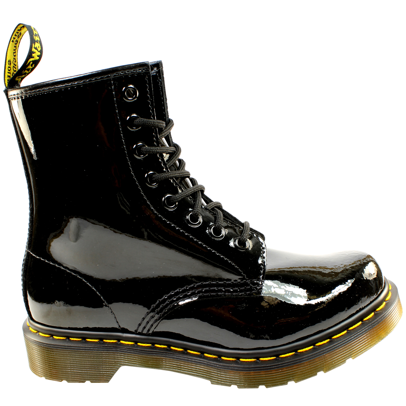 546aad5c4 Details about Ladies Dr Martens 1460 W 8 Eyelet Patent Lamper Military Lace  Up Boot All Sizes