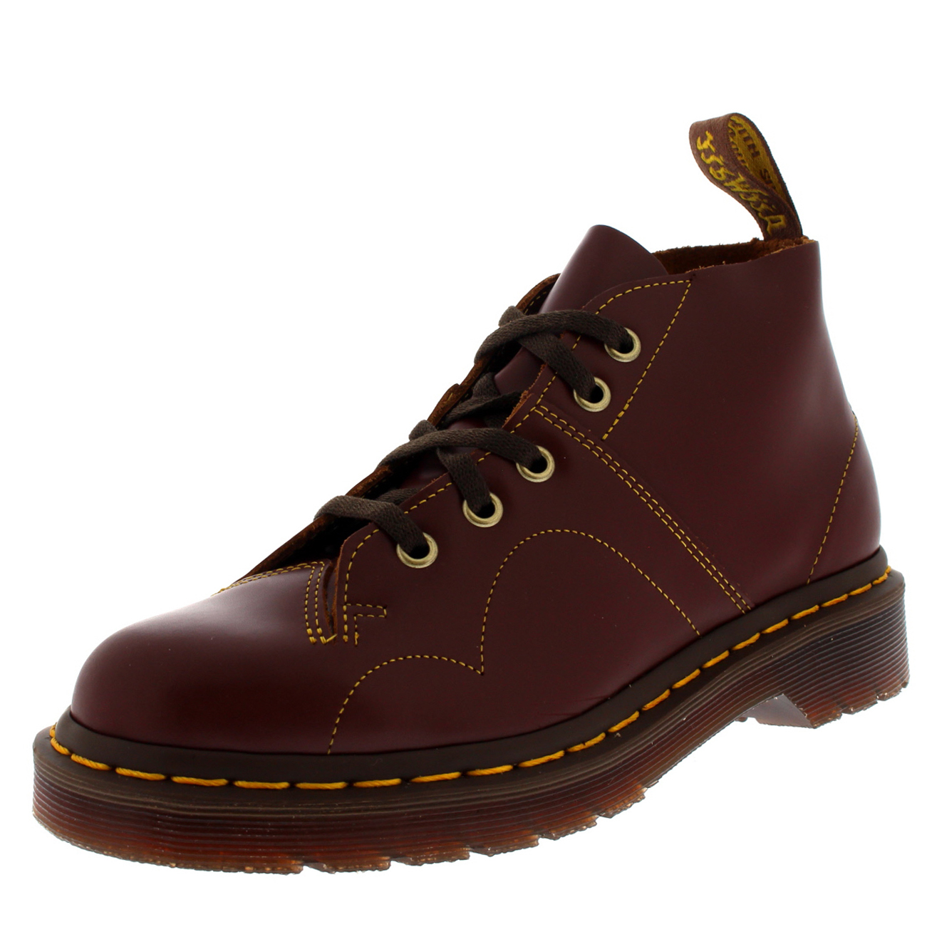 unisex adults dr martens church doc martens fashion casual flat boots all sizes ebay. Black Bedroom Furniture Sets. Home Design Ideas
