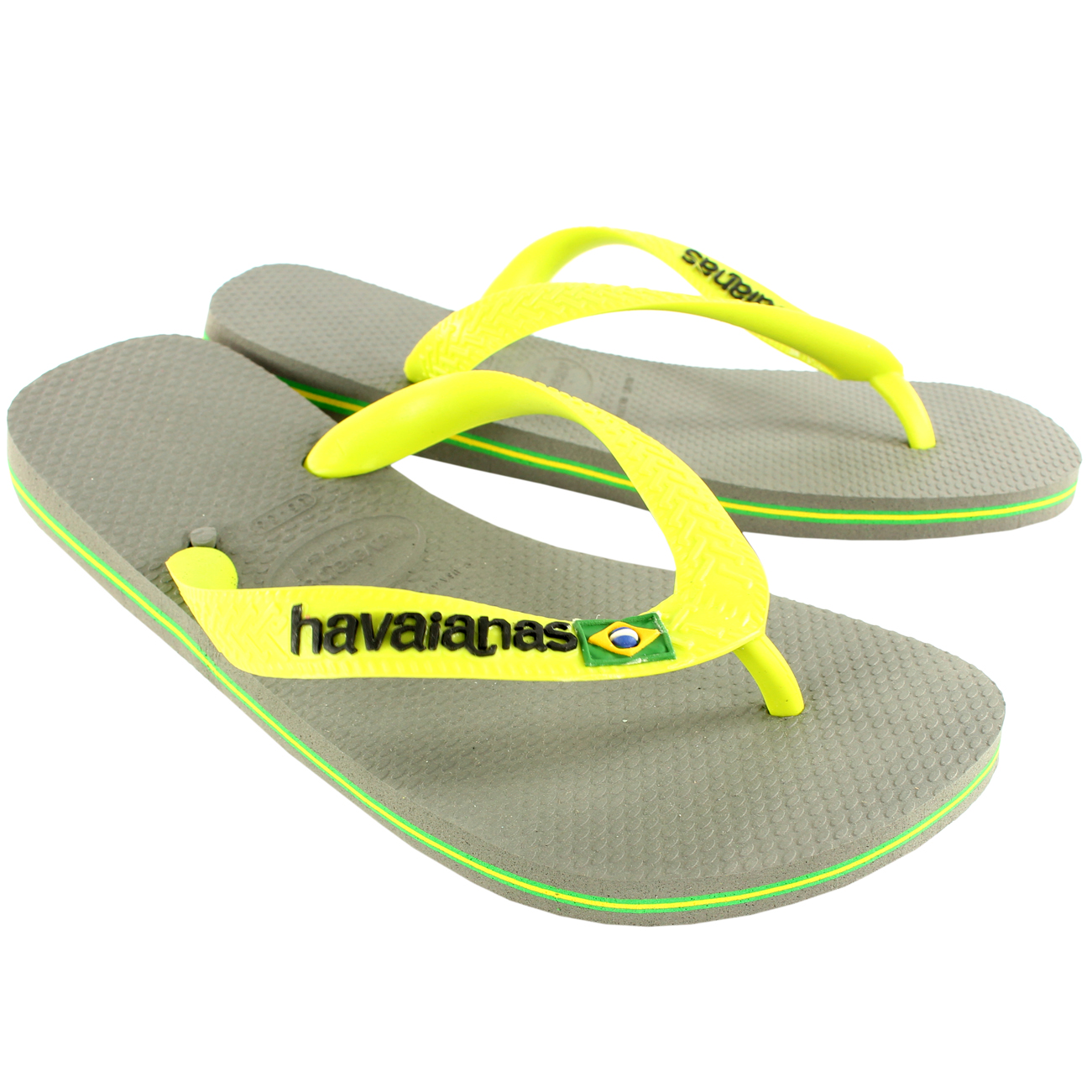 af108bad11764 Ladies Havaianas Brasil Logo Slip On Flip Flops Summer Beach Sandals ...
