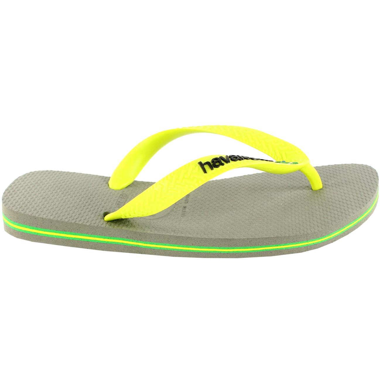 8da148eb3eb03a Ladies Havaianas Brasil Logo Slip On Flip Flops Summer Beach Sandals ...