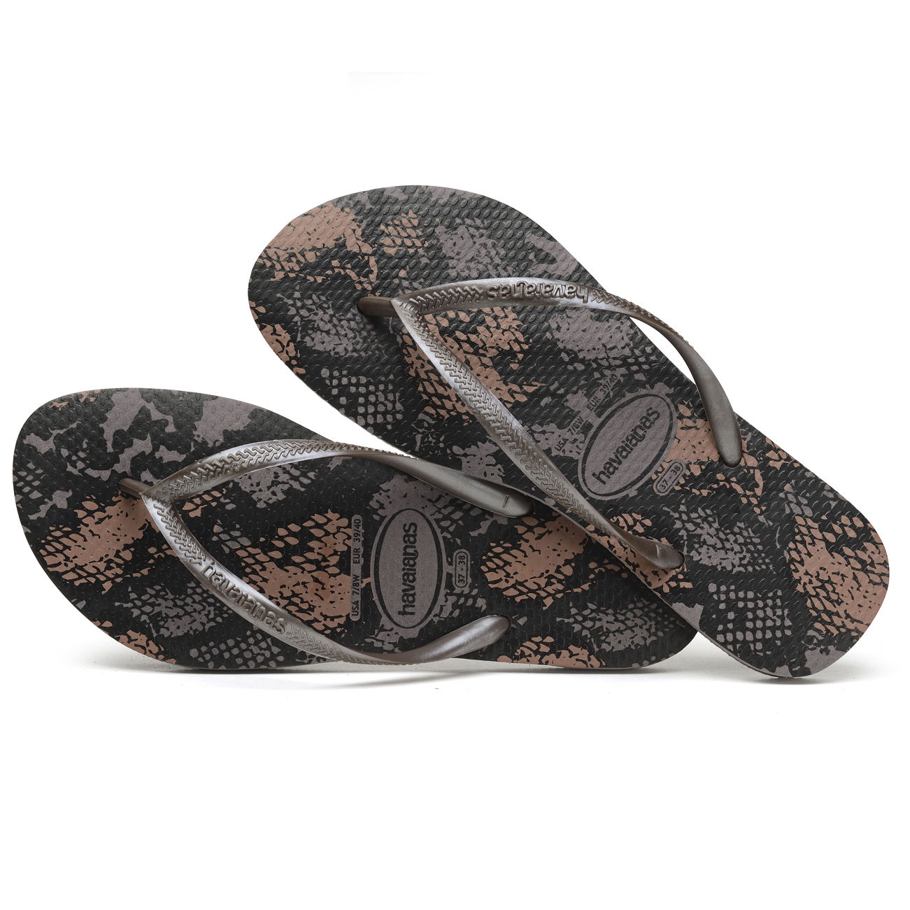 9af0e40ccdef Ladies Havianias Slim Animal Sandals Brasil Beach Holiday Flip Flops ...