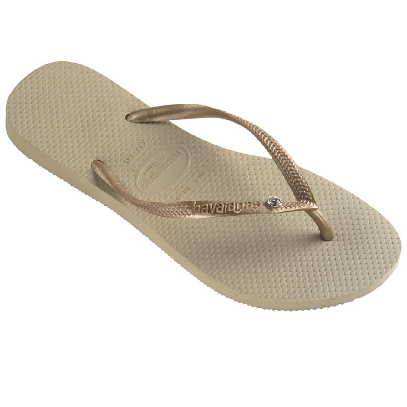 Ladies Havaianas Slim Crystal Glamour Sw Diamante Rubber Flip Flop All  Sizes  eBay