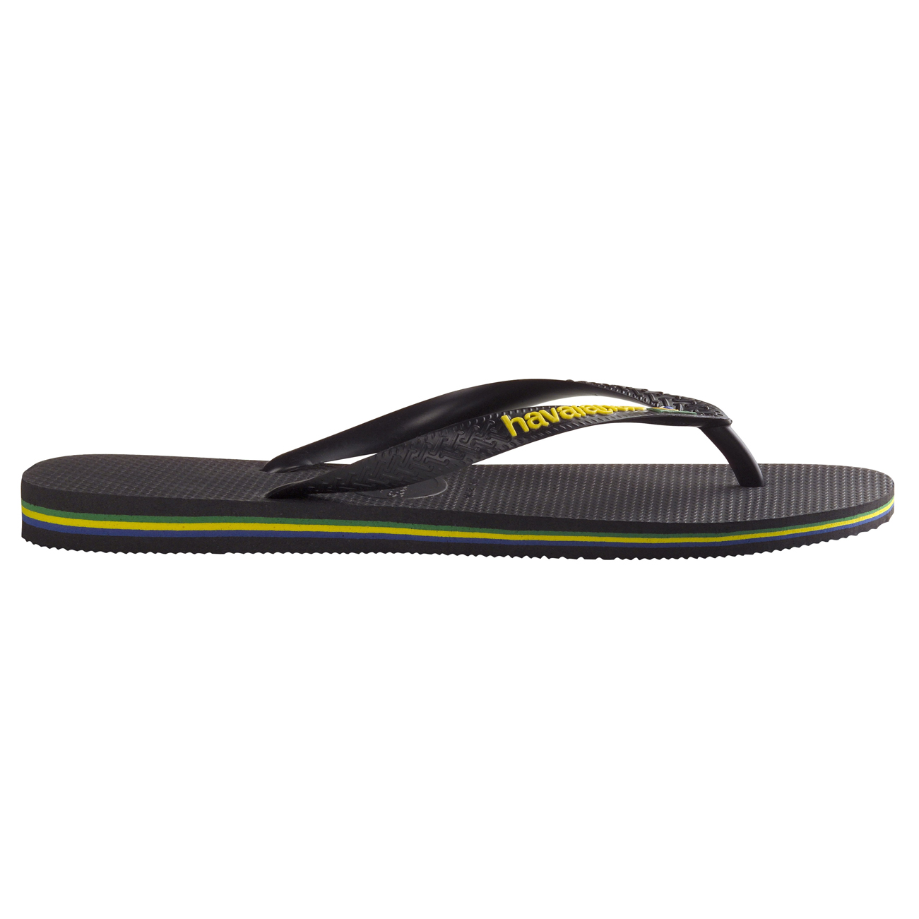 84a08ae4efde91 Unisex Kids Havaianas Brasil Logo Slip On Beach Holiday Flip Flops All Sizes