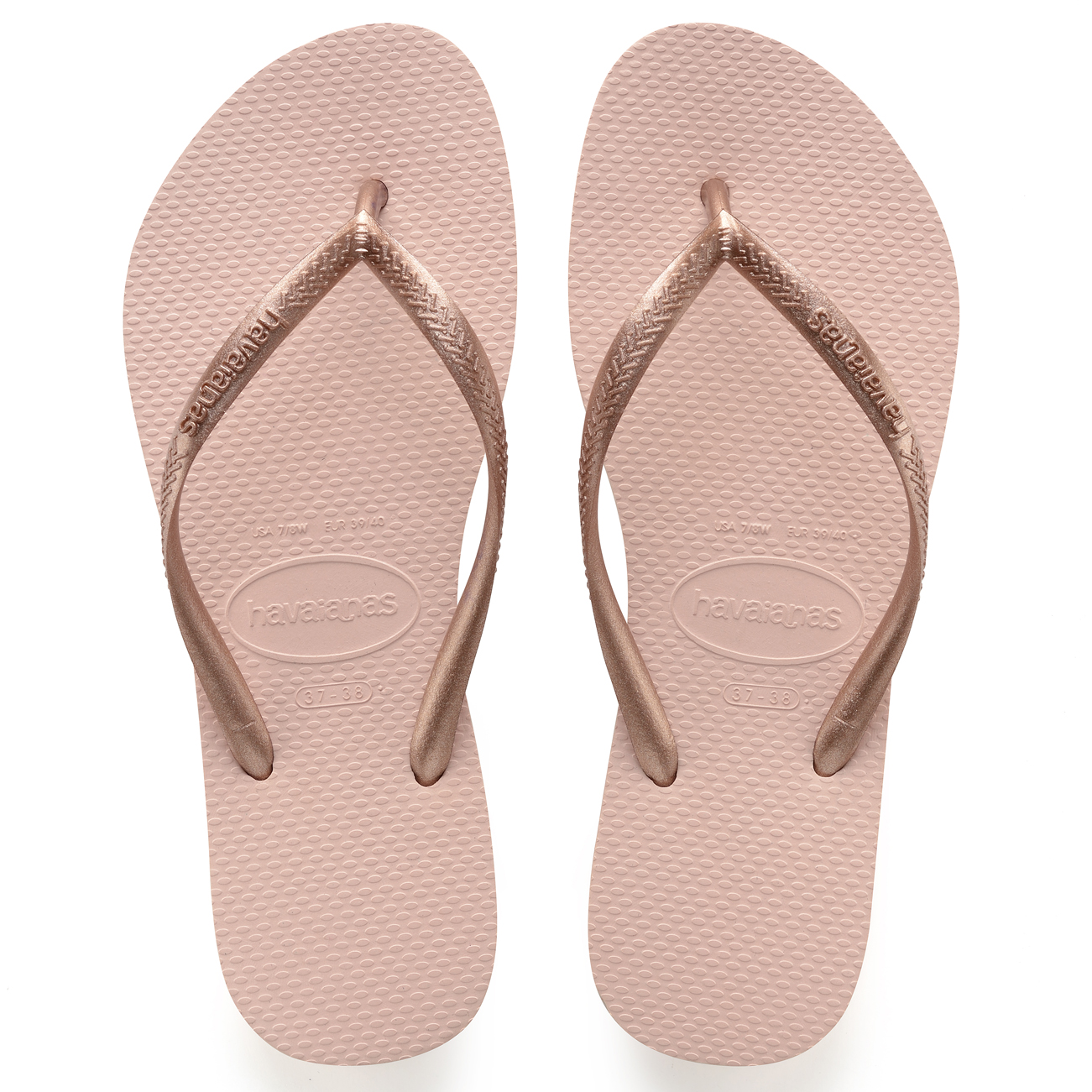 22063a0d27612 Details about Ladies Havaianas Slim Ballet Toe Post Thong Sand Holiday  Beach Sandals All Sizes