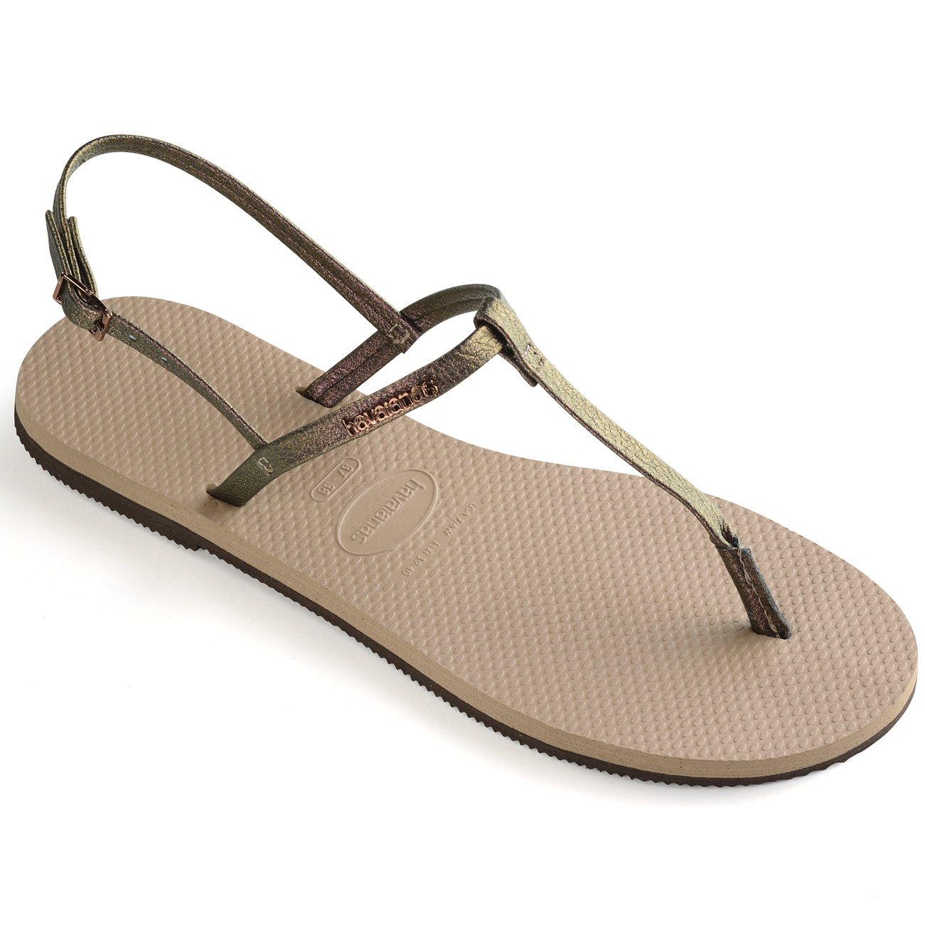 95273bedf8b9c1 Ladies Havaianas You Riviera Toe Post Thong Casual Flat Rubber ...