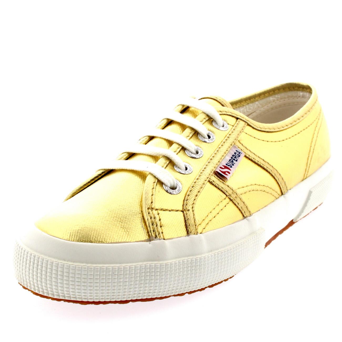 mesdames superga 2750 cotmetu plat plat plat chaussures métalliques occasionnels bas haut d3a44f