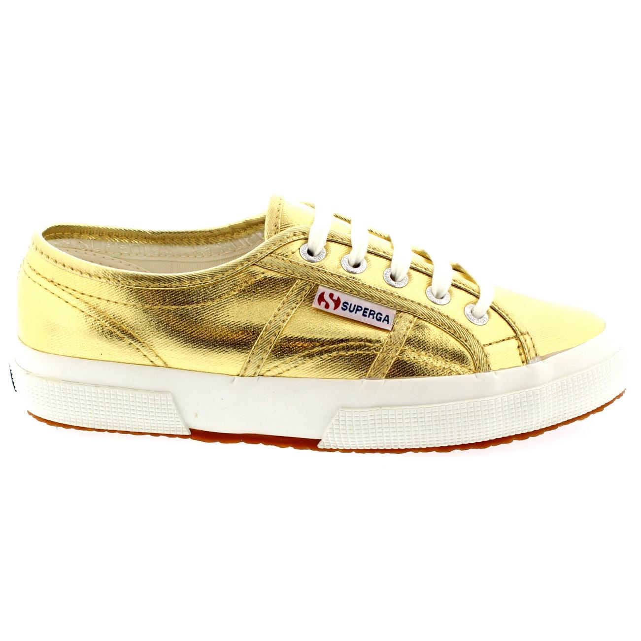 e0657957686d9 Ladies Superga 2750 Cotmetu Shoes Metallic Flat Casual Low Top Trainer All  Sizes | eBay