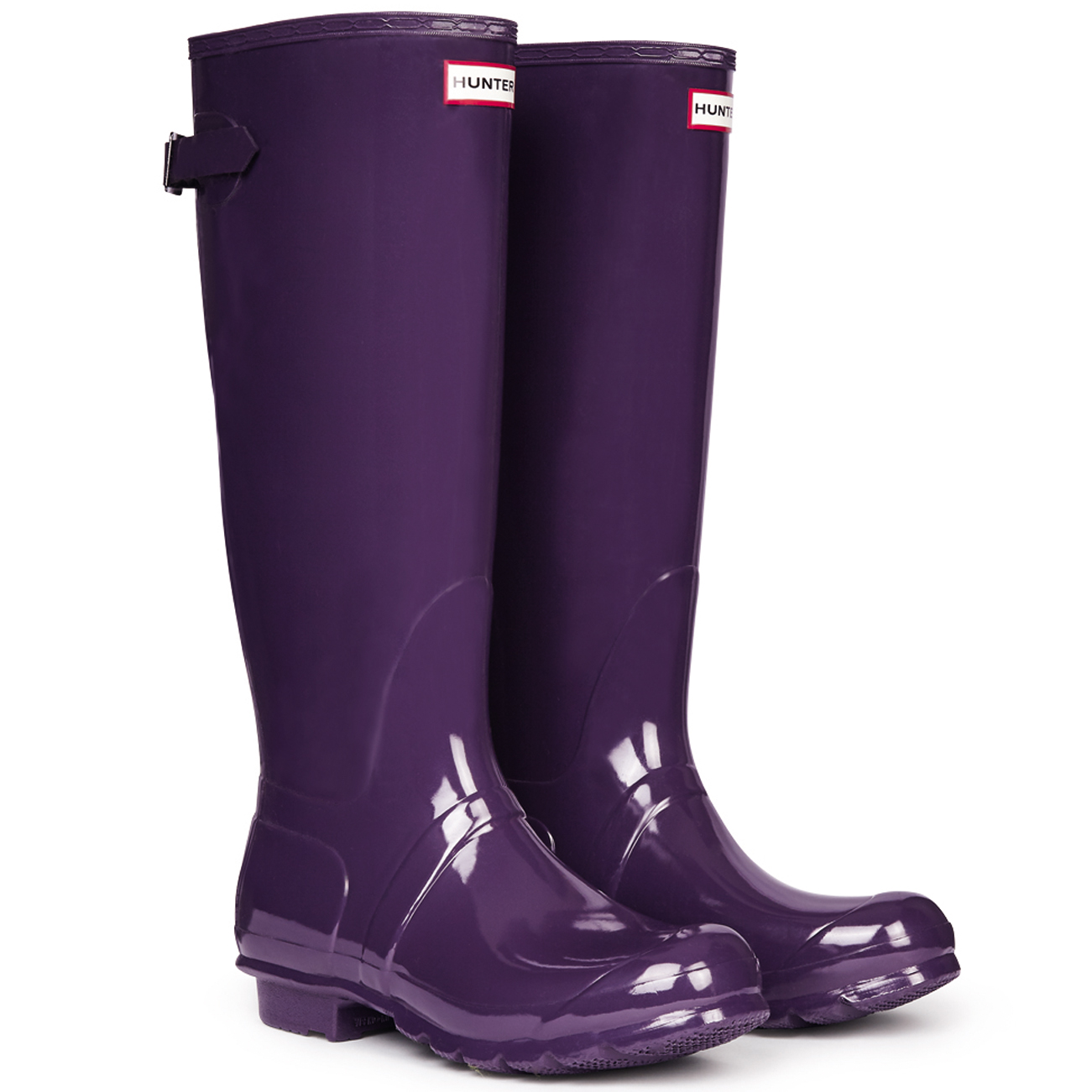 Ladies Hunter Original Wellington Tall Gloss Rain bota Winter Festival Wellington Original All Talla 30811c