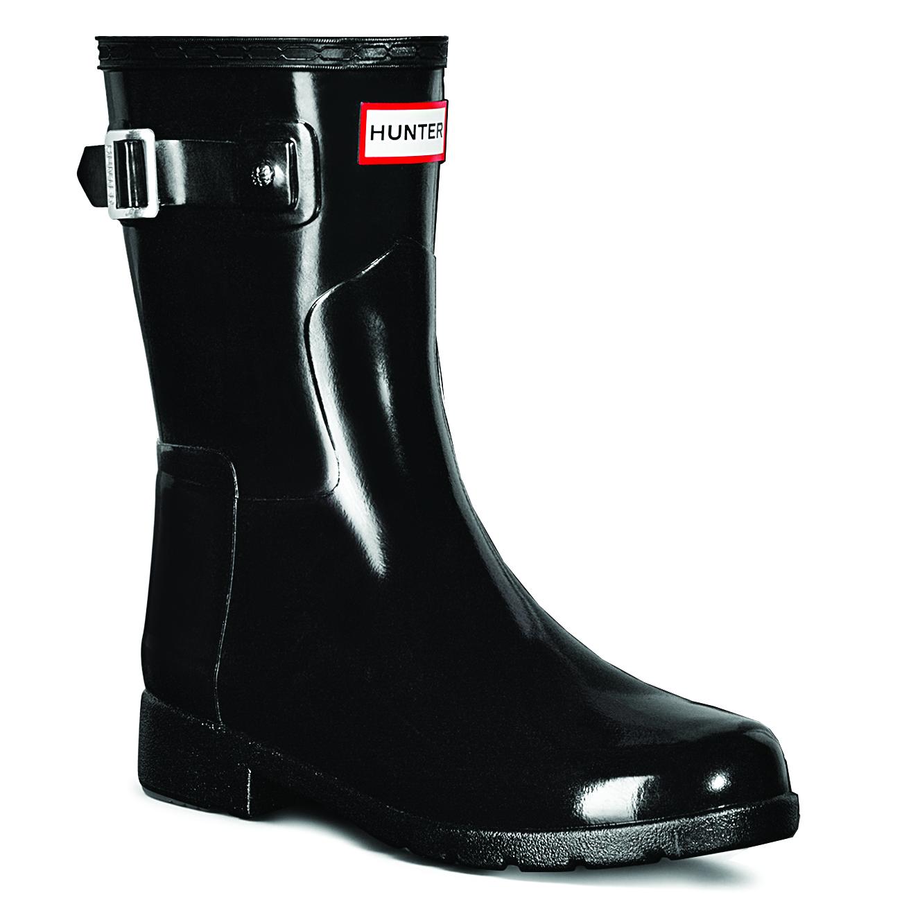 Ladies Hunter Original Adjustable Back Gloss Rain Wellington Boots All Sizes