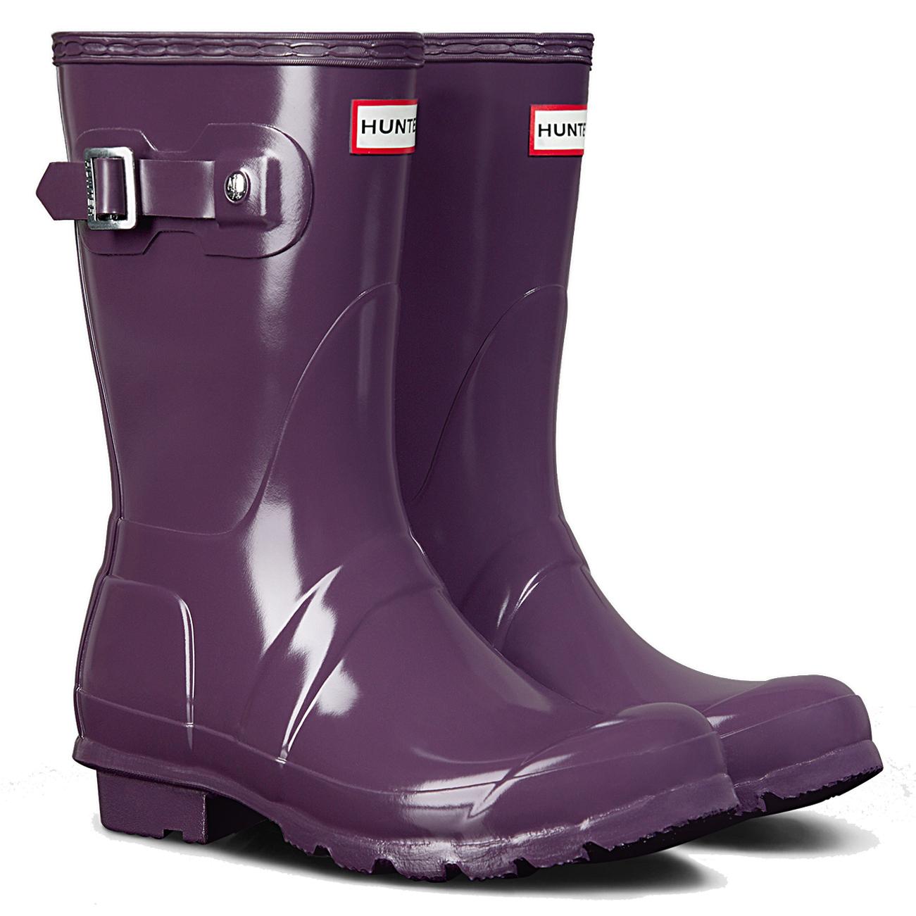 Ladies-Hunter-Original-Short-Gloss-Rain-Wellies-Winter-Mid-Calf-Boots-All-Sizes