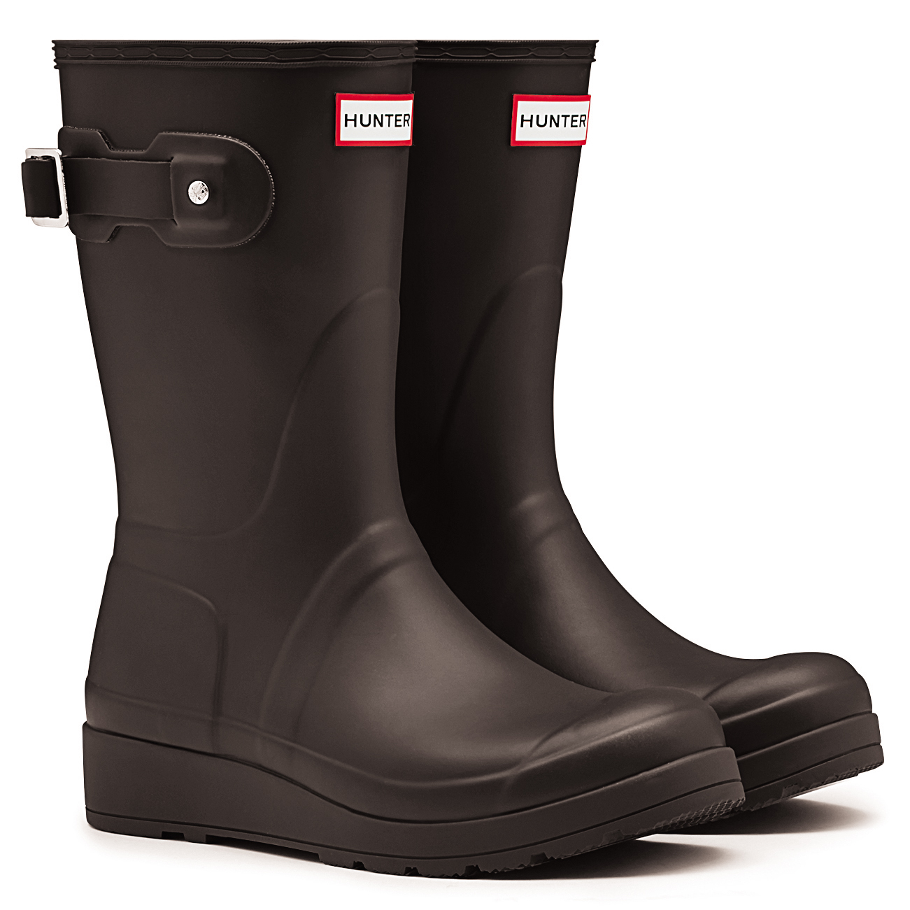 f3f26605bd2a Ladies Hunter Original Short Refined Wedge Sole Winter Snow Wellies All  Sizes