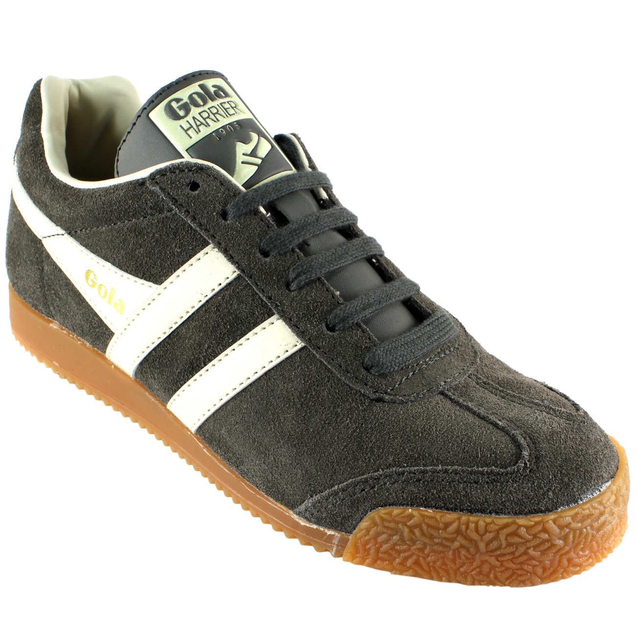 Striped Harrier All Trainers Low Gola Running White Suede Top Womens 0vxpwqU1