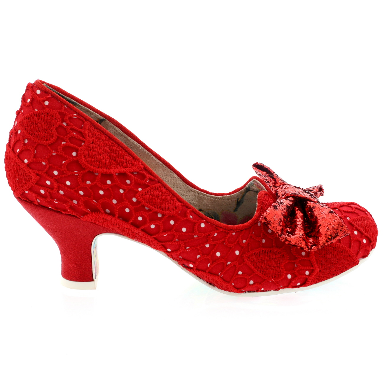 Red Shoes Low Heal